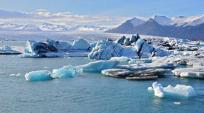 Icelandic glacier lagoon Royalty Free Stock Photography