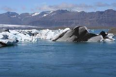 Icelandic glacier landscape Royalty Free Stock Images