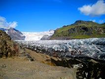 Icelandic glacier. Svinafellsjokull is a glacier located in Vatnajökull National Park, Iceland Royalty Free Stock Photo