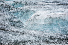 Icelandic glacier with zigzag fracture Royalty Free Stock Photography
