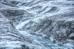 Icelandic glacier with zigzag fracture Royalty Free Stock Image