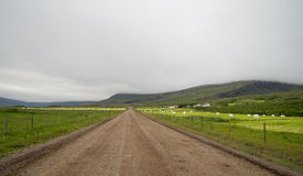 Icelandic gravel road Stock Photo