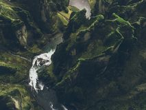 Icelandic green hills and panoramas stock images