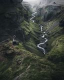 Icelandic Highlands. Thorsmork valley. During summer is full of green stock images