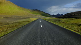 Icelandic long road Stock Photography