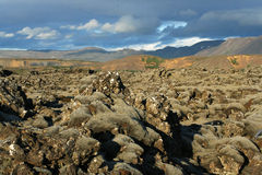 Icelandic hills. Some place in Iceland near Hafnarfjordur. Nice mountain landscape Stock Images