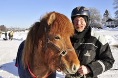 Icelandic horse competition Stock Image