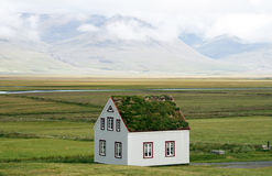 Icelandic house Stock Images