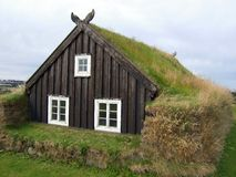 Icelandic house Stock Image