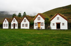 Icelandic Houses Royalty Free Stock Images