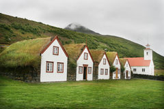 Icelandic houses Stock Image