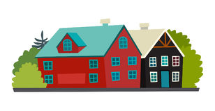Icelandic houses icon Stock Images