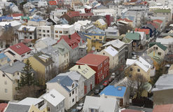 Icelandic houses Stock Images