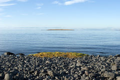 Icelandic Island. As seen from shore of Reykjavik Royalty Free Stock Image
