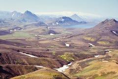 Icelandic krajobraz Zdjęcie Royalty Free