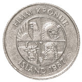 5 icelandic krona moneta Obraz Royalty Free