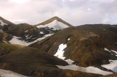 Icelandic landscape. The upper part of Landmannalaugar trek in Iceland in the summer Royalty Free Stock Image