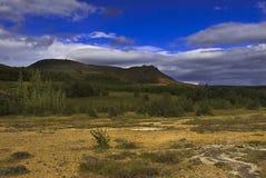 Icelandic landscape. Icelandic mountain landscape in vibrant colors Stock Photos