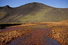 Icelandic Landscape. Eerie landscape in the south part of Iceland's highlands, an area filled with unusual geological elements Stock Photo