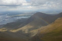 Icelandic landscape. Borgarfjordur from the mountains, Iceland Stock Images