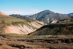 Icelandic landscape. Beautiful mountains and volcanic area Stock Image