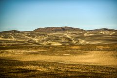 Icelandic landscape, endless lunar spaces. Royalty Free Stock Photography