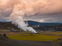 Icelandic landscape and geothermal activity Stock Photos