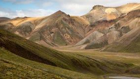 Icelandic landscape landmannalaugar Royalty Free Stock Image