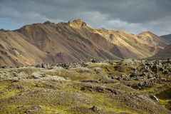 Icelandic landscape landmannalaugar Stock Photos