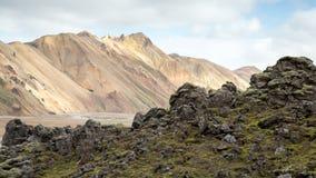 Icelandic landscape landmannalaugar Stock Image