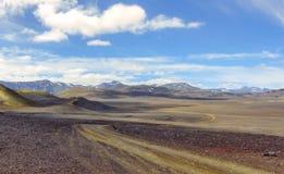 Icelandic landscape. Landmannalaugar, Fjallabak Nature Reserve Stock Photography