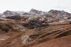 Icelandic landscape. Mountains near Vik in Southern Iceland Royalty Free Stock Image