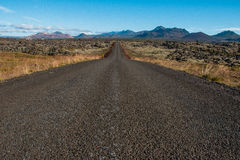 Icelandic landscape. Open road - Snaefellsnes Peninsula in Western Iceland Stock Photos