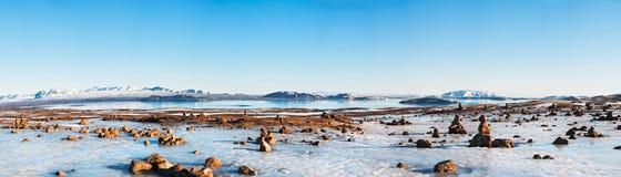 Icelandic landscape panorama 1x3.5 Ratio Stock Image