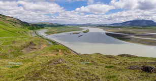 Icelandic landscape panorama Stock Photography