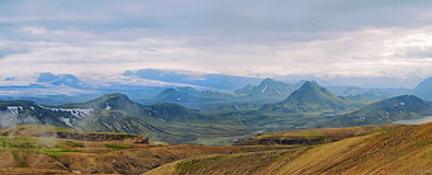 Icelandic landscape - panoramic view Stock Image