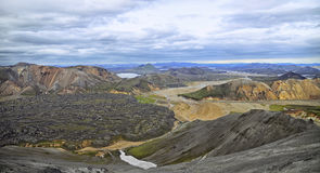 Icelandic landscape - panoramic view Royalty Free Stock Image