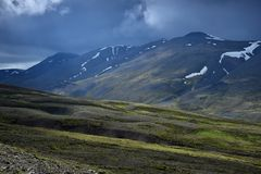 Icelandic landscape. A part of the Vatnsdalsfjall stock photo
