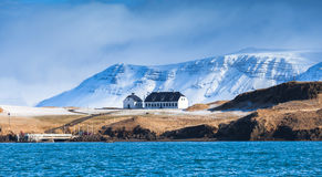 Icelandic landscape with snowy mountains Stock Photography
