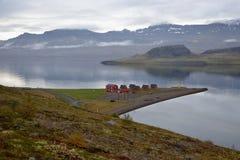 icelandic liggande Arkivbild