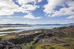 icelandic liggande Fotografering för Bildbyråer