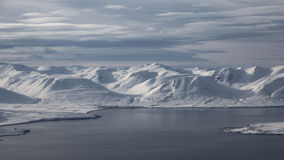 icelandic liggande Eyjafjordur Arkivbild
