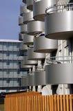 icelandic modernistycznego budynku. Obrazy Royalty Free