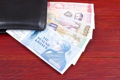 Icelandic money in the black wallet Royalty Free Stock Images