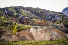 Icelandic mountain landscape, Landmannalaugar mountains summer s. Eason Royalty Free Stock Photos