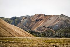 Icelandic mountain landscape, Landmannalaugar mountains summer s. Eason Royalty Free Stock Photography