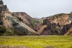 Icelandic mountain landscape, Landmannalaugar mountains summer s. Eason Stock Photos