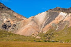 Icelandic mountain landscape under a blue summer sky Royalty Free Stock Image
