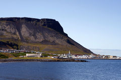Icelandic mountain town Royalty Free Stock Photo