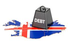Icelandic national debt or budget deficit, financial crisis conc. Ept Stock Photography
